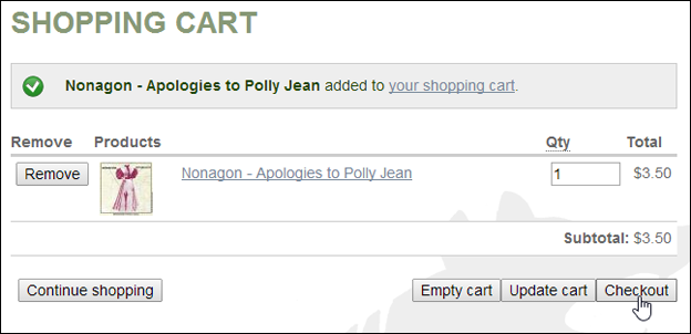CBR Shopping Cart